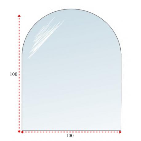 Podstawa półokrągła szklana pod kominek 100x100