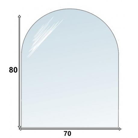 Podstawa półokrągła szklana pod kominek 70x80