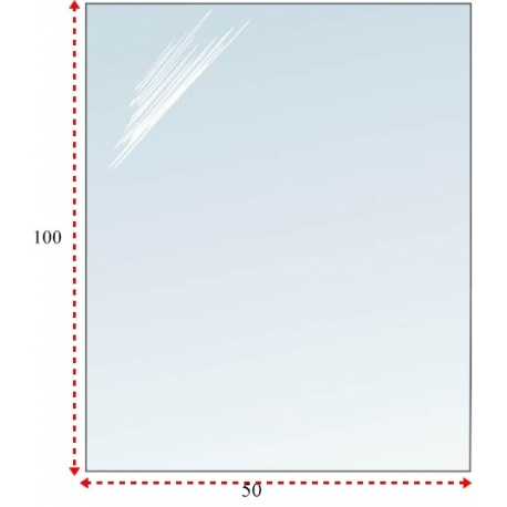Podstawa prostokątna szklana pod kominek 50x100