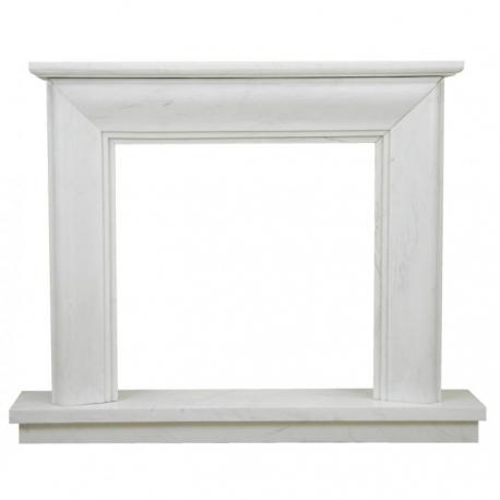 Portal kominkowy biały marmur 078