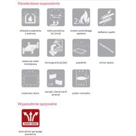 Wkład kominkowy NAROŻNY KFD ECO 70 R - prawa szyba szyba bez szprosa