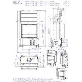 IMPRESSION 2g L 67.60.01 wkład kominkowy z wysuwanymi drzwiczkami i podwójną szybą
