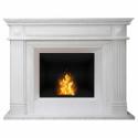Biokominek portalowy Preston biały marmur 074