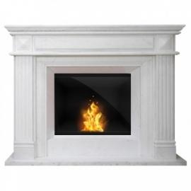 Biokominek portalowy biały marmur 074